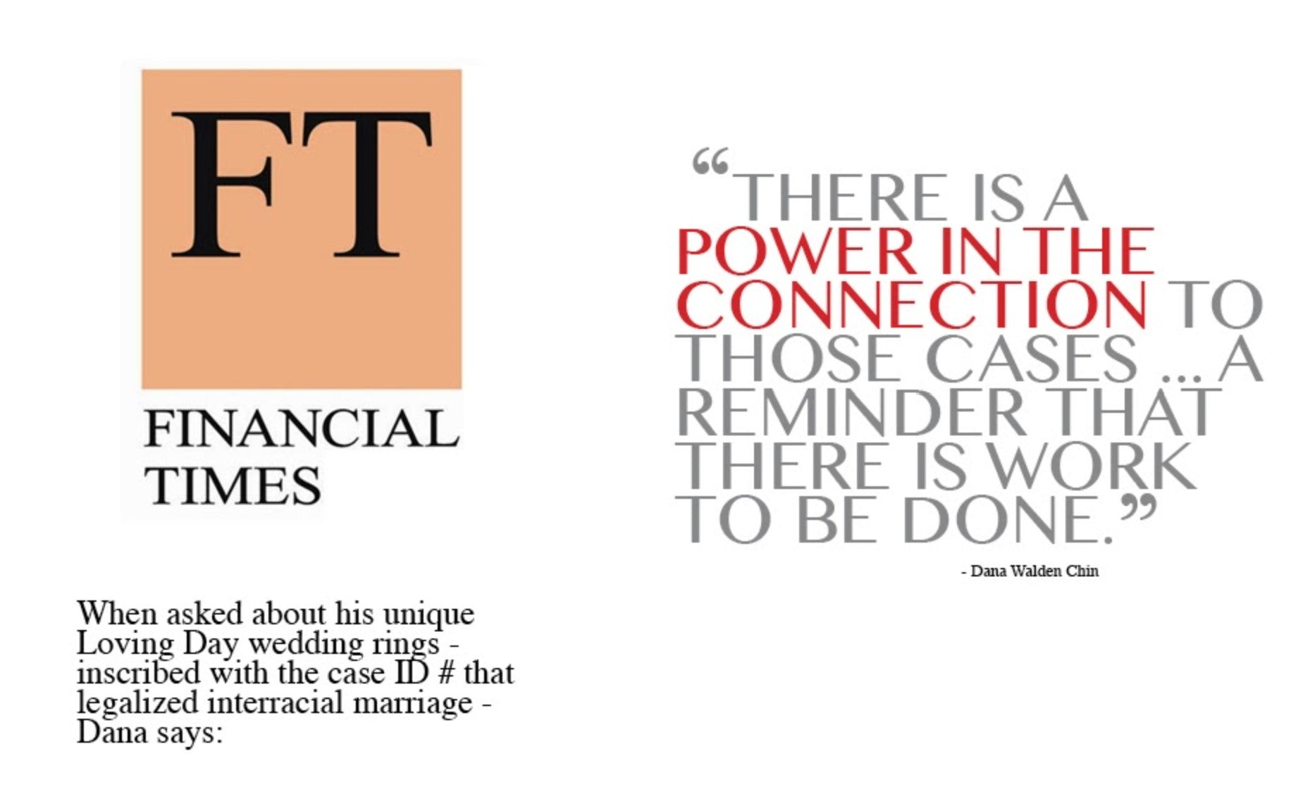 Financial Times quote- Loving Day Rings