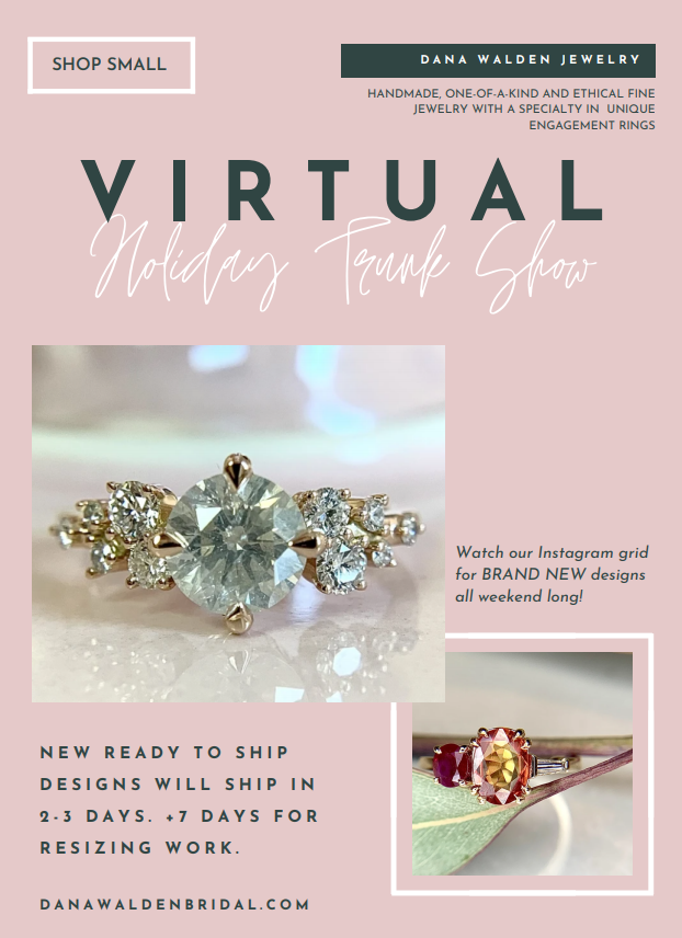 Holiday Trunk Show flyer 2020