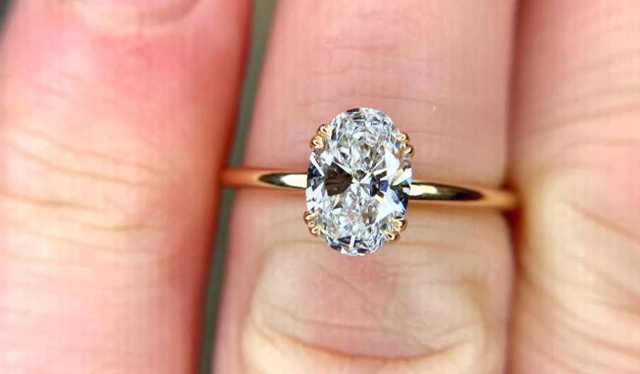Lab-grown diamond engagement ring by Dana Walden