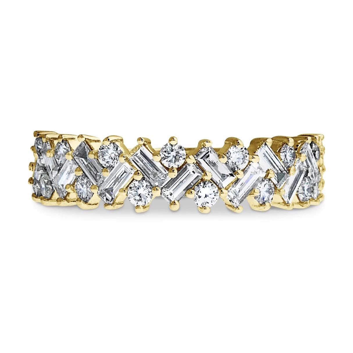 lucca diamond and gold band