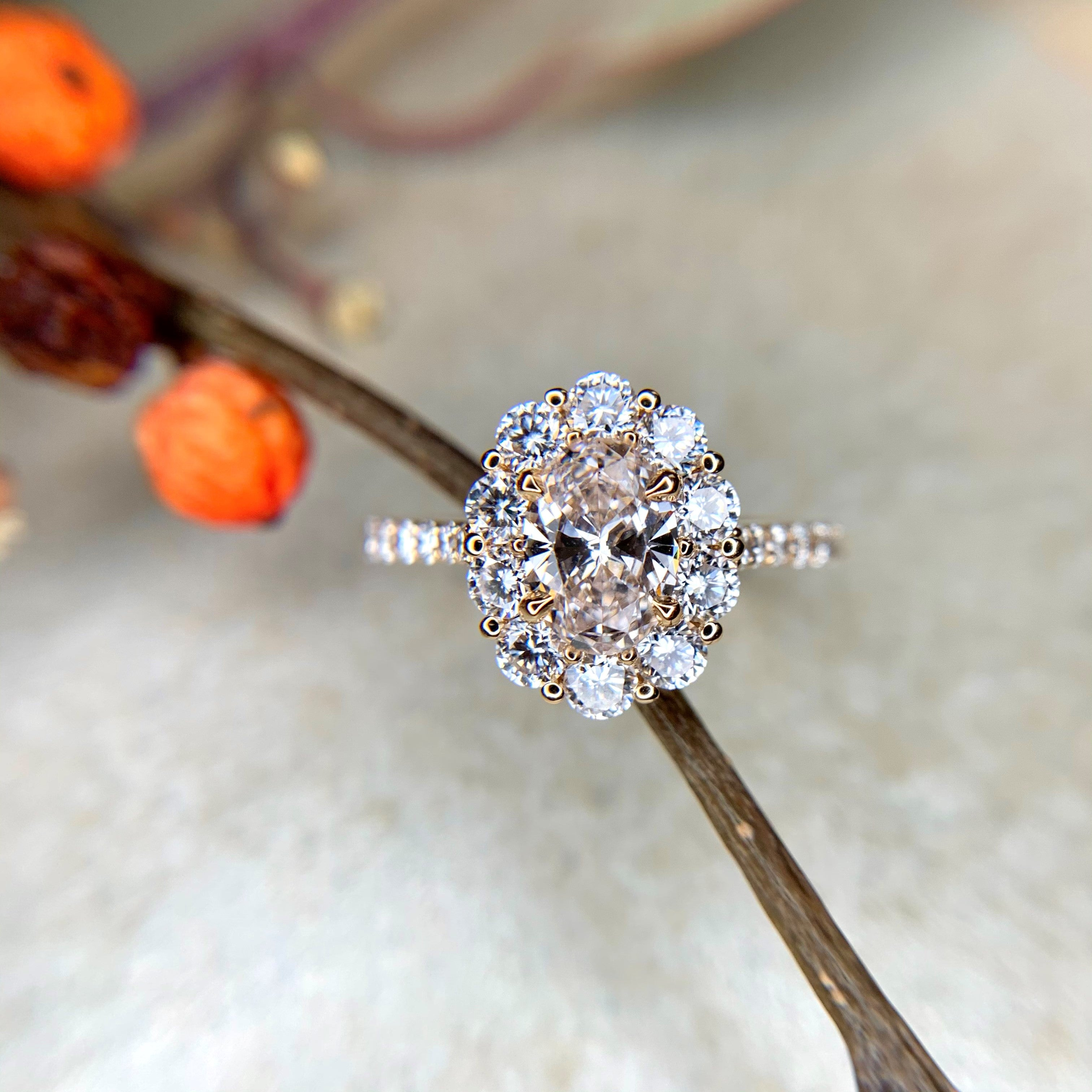 Malia lab diamond engagement ring- Dana Walden