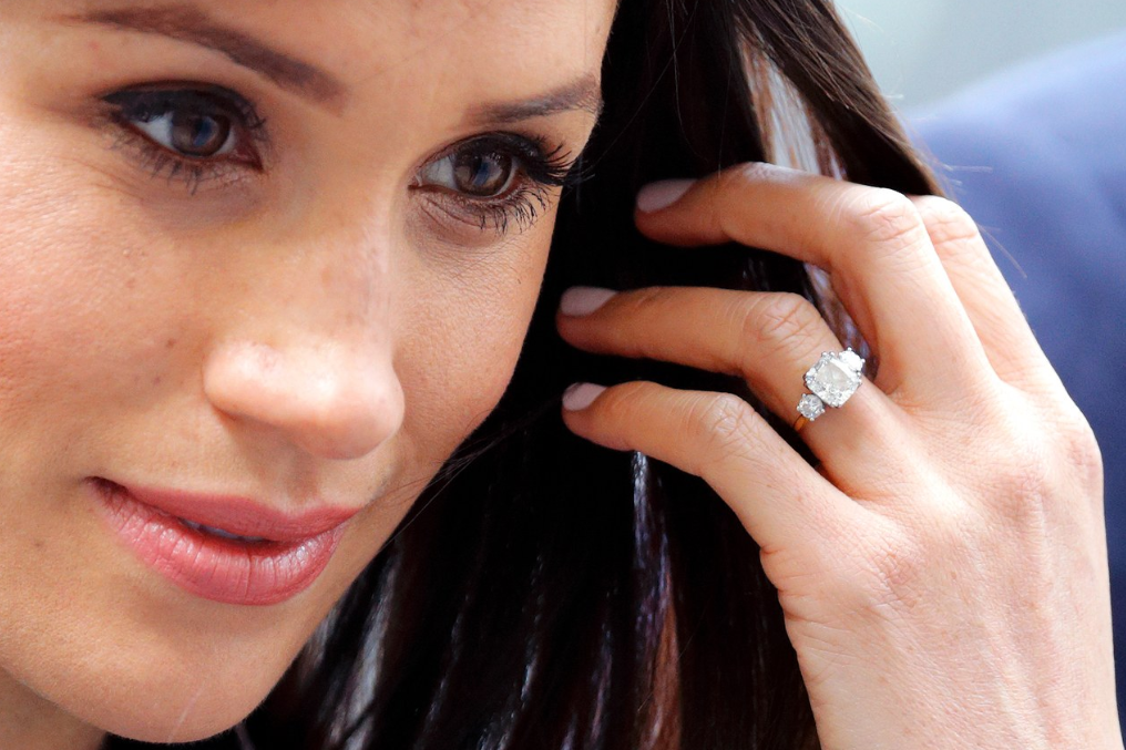 Meghan Markle engagement ring - 3-stone engagement ring trend