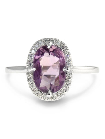 Purple Sapphire Halo Ring- The Aura of Sapphires