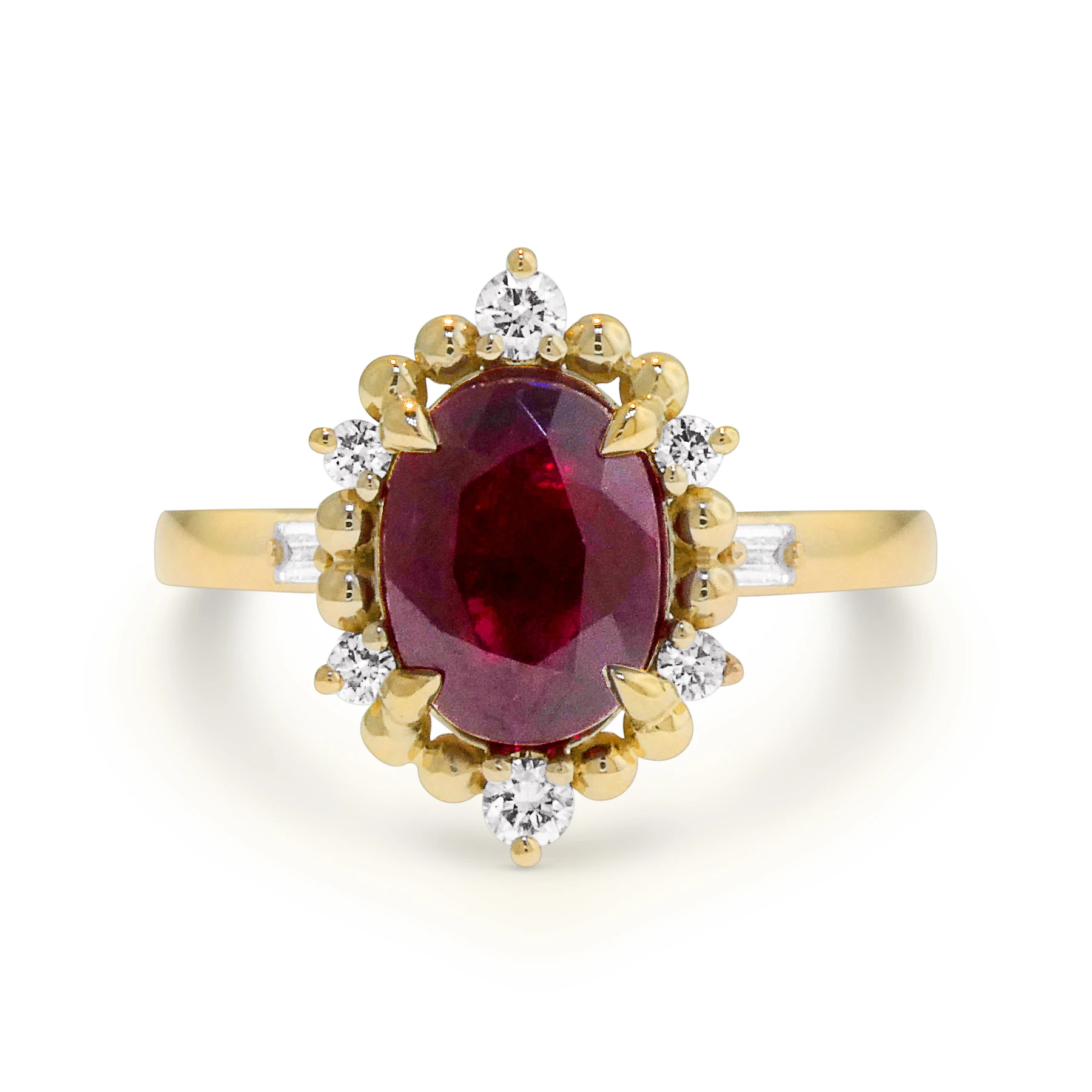 harkin ruby engagement ring by DANA WALDEN NYC