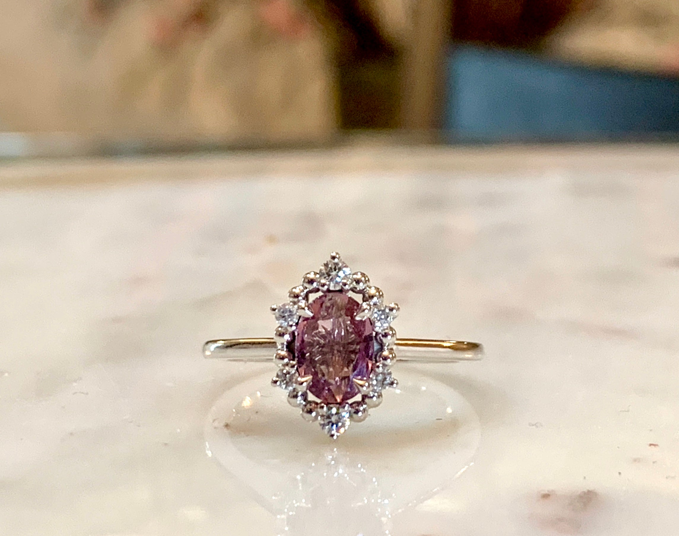 TERRY sapphire engagement ring