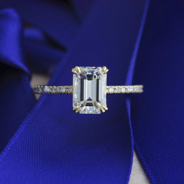 Alaia 1ct Emerald Cut Diamond <br/> Engagement Ring
