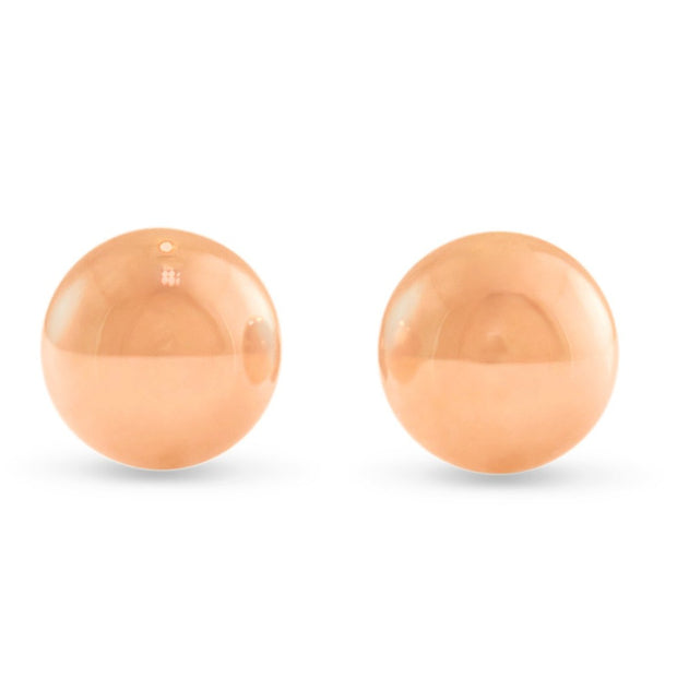 6mm rose gold studs in sphere ball shape and high polish