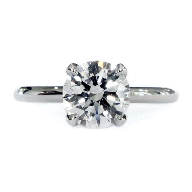 Astrid classic diamond solitaire engagement ring in platinum