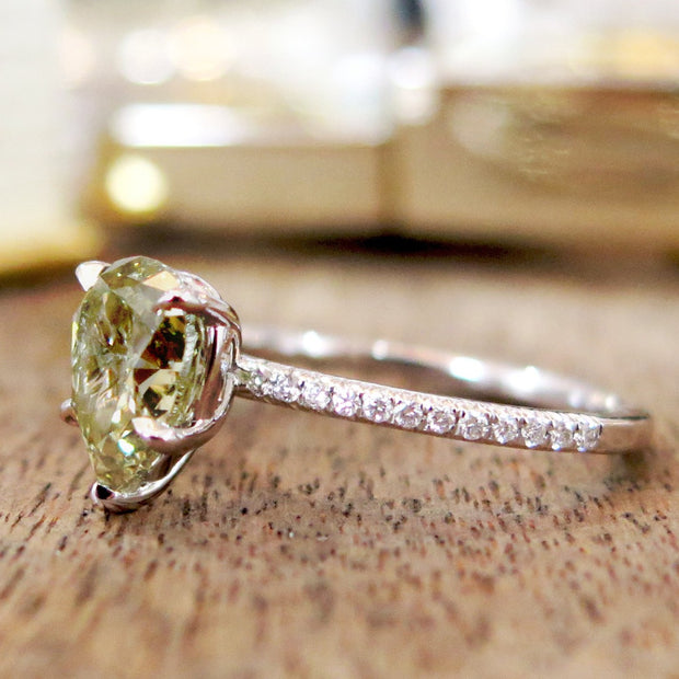 Bianca 1.71ct Green Diamond <br/> Engagement Ring