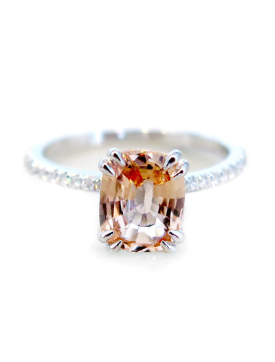 Clio 2ct Padparadscha Sapphire <br/> Engagement Ring