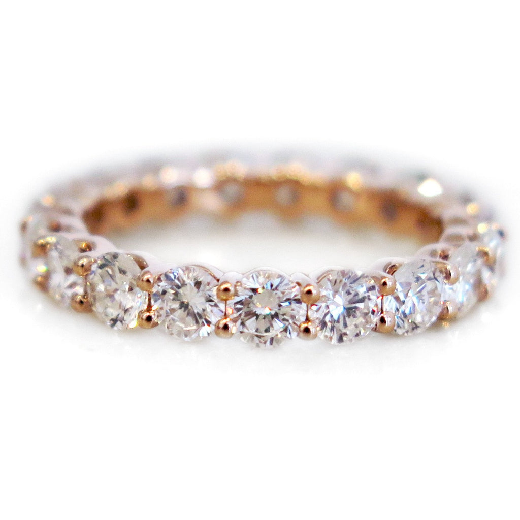 band natural french gold pave pink eternity wb pav rose light diamond bands