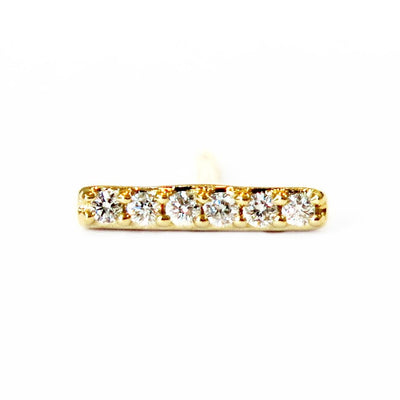 SINGLE DIAMOND BAR STUD EARRING