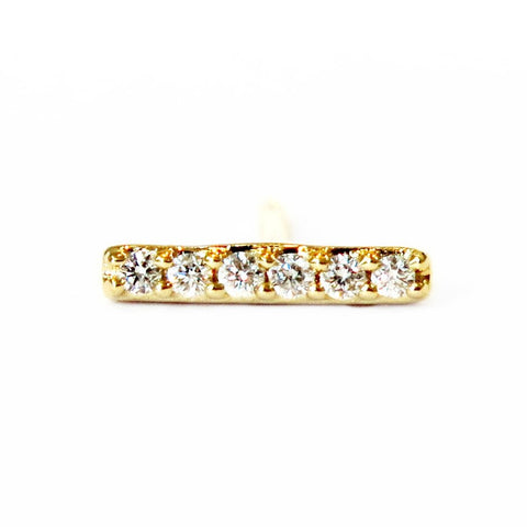 SINGLE DIAMOND BAR STUD