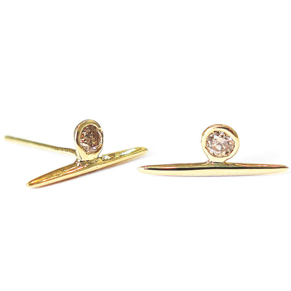 DIAMOND NEEDLE STUDS
