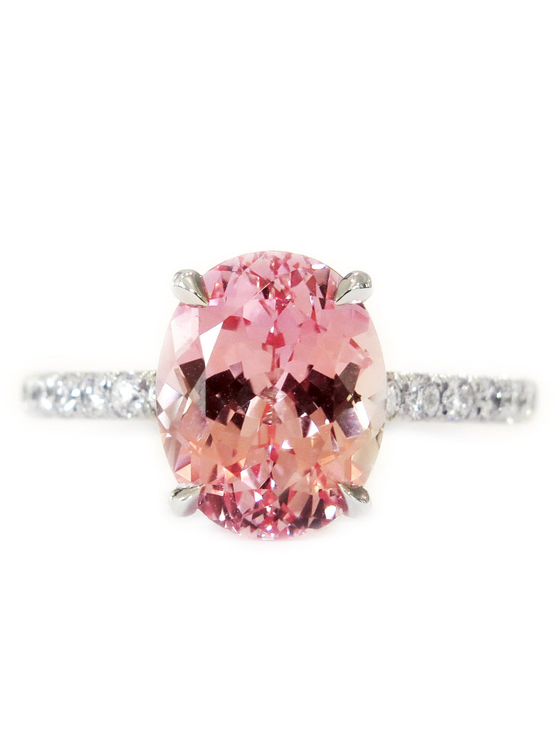 pink cut sapphire engagement princess jewellery rings sterling stone three white jewelry silver lajerrio