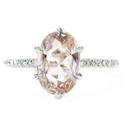Farah 1.75ct Pale Peach Sapphire <br/> Engagement Ring