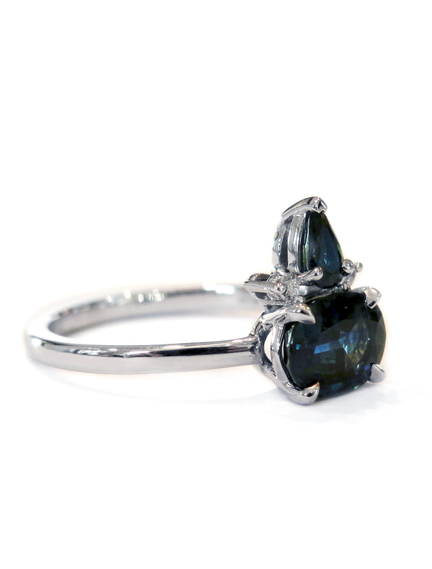 Florentine 1.90ctw Geometric Sapphire <br/> Engagement Ring