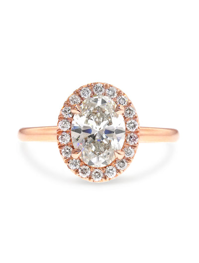 Gabrielle 1ct Oval Diamond Halo <br/> Engagement Ring