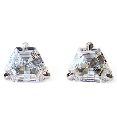 HEXAGON DIAMOND STUD EARRINGS