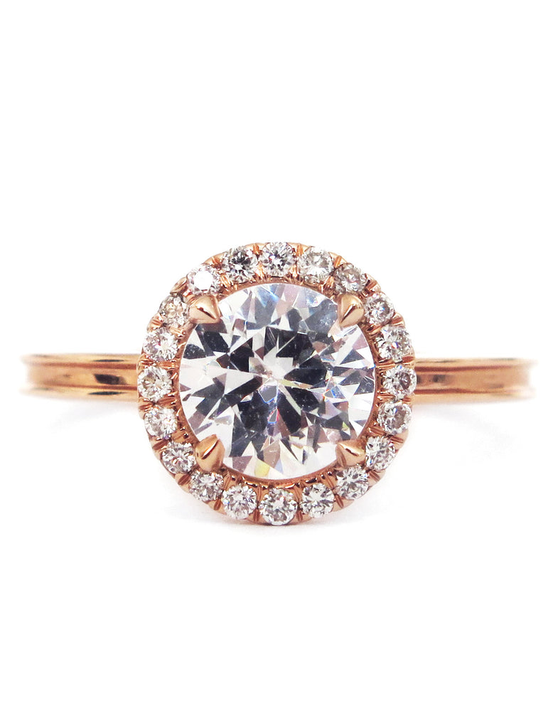 in engagement gold ring unique diamond women for white bands round