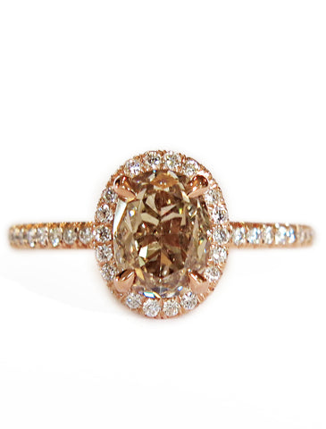 HOLLY CHAMPAGNE DIAMOND RING