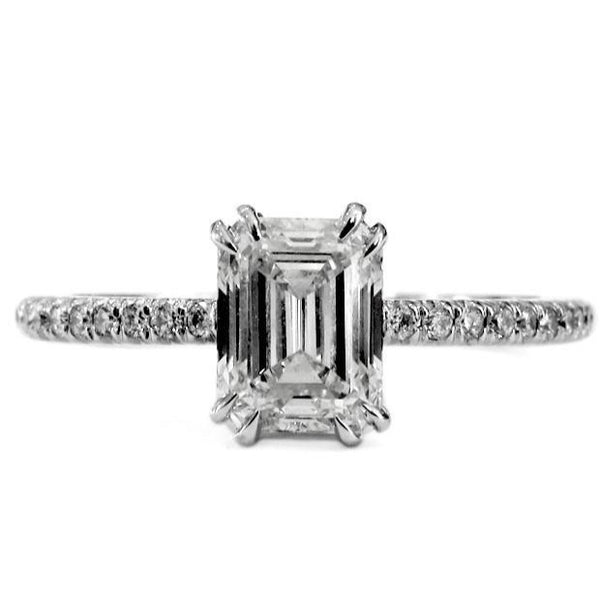 alaia emerald cut engagement ring with delicate
