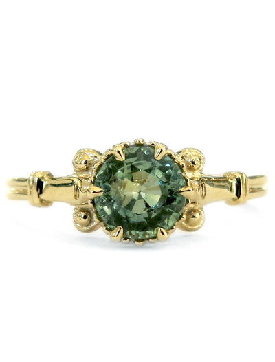 Chaiara 1.2ct Green Sapphire <br/> Engagement Ring