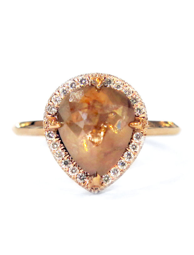LARKE PEACH DIAMOND RING (2.01ct)