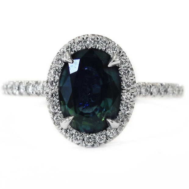 JANIE TEAL SAPPHIRE RING