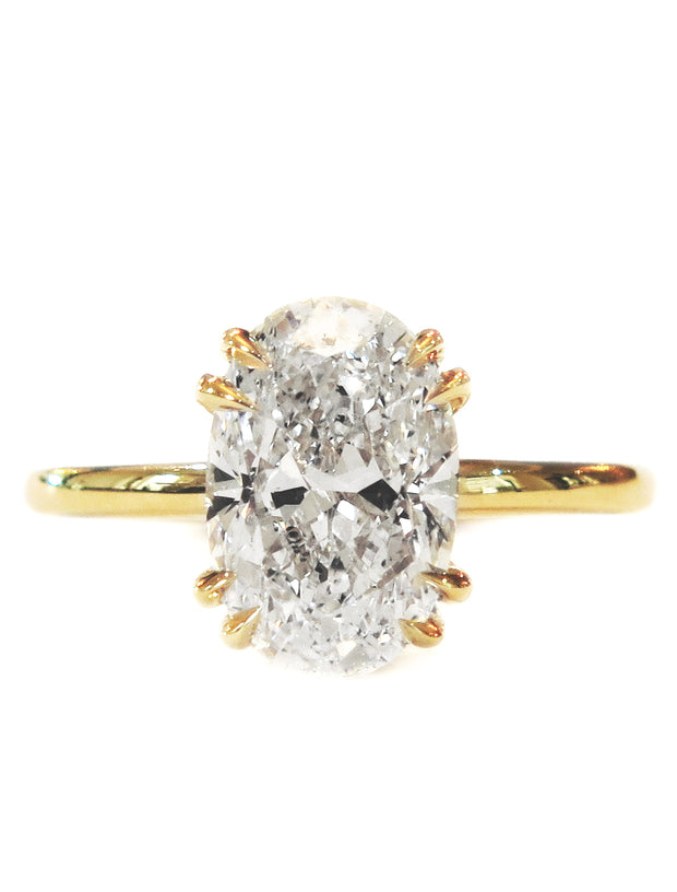 7c8b13f78d8 Jessa Thin Oval Diamond Solitaire in Yellow Gold – Unique Engagement ...