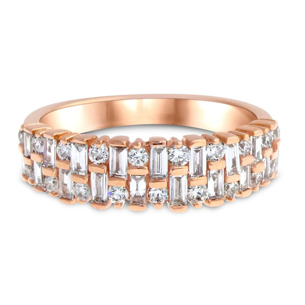 "Diamond ""Madrid"" engagement and wedding band in rose gold by Dana Walden Bridal"