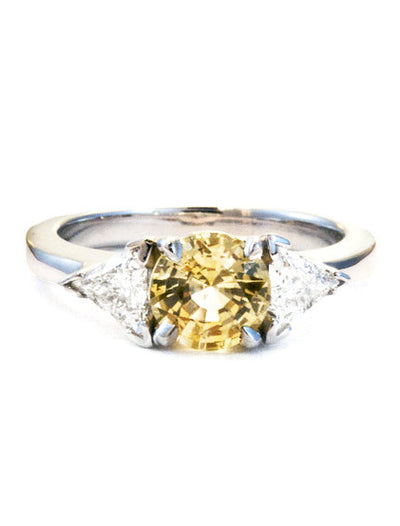 Marigold 1ct Yellow Sapphire <br/> Three Stone Engagement Ring