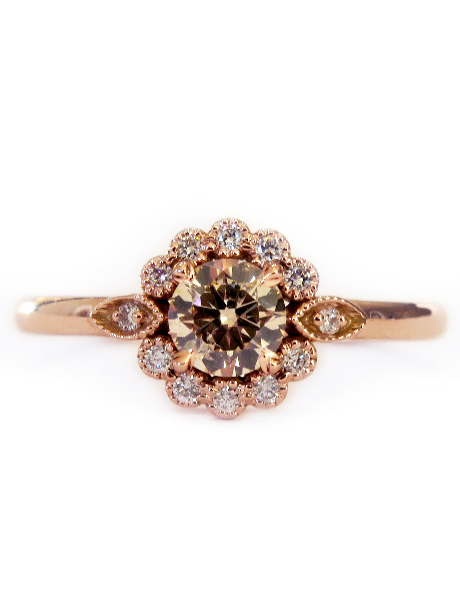 29268d43f Milo-Unique-Rose-Gold-Halo-Engagement-Ring -Floral-Delicate-Low-Profile-Dana-Walden-Bridal-NYC_37a13d06-faad-4e7b-968c-54f92a85b989.jpg?v=1495048150