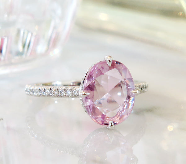 ring rings radiant cut diamond peach img engagement lavender rose products gold cts in sapphire