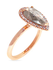 Shivana 2ct Grey Diamond Halo <br/> Engagement Ring