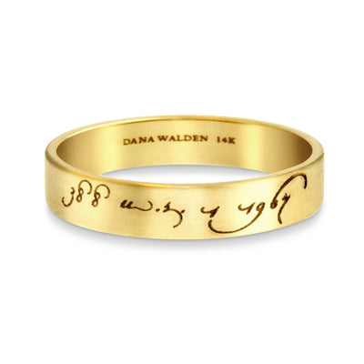 Loving Day Wedding Ring Yellow Gold - Interracial Marriage
