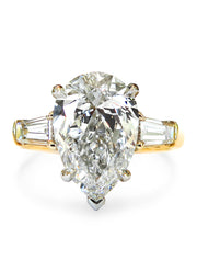 Petal 2ct Pear Shaped Diamond <br/> Engagement Ring