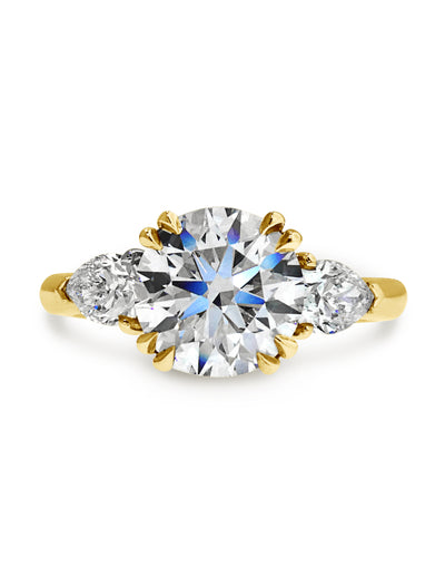 Portia 1.5ct Diamond & Pear Three Stone <br/> Engagement Ring