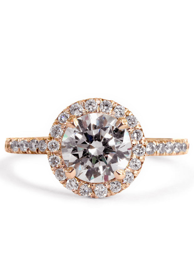 Primrose Seamless Diamond Halo <br/> Engagement Ring