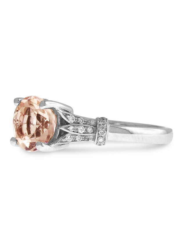 SHILOH MORGANITE ENGAGEMENT RING (1.3ct)