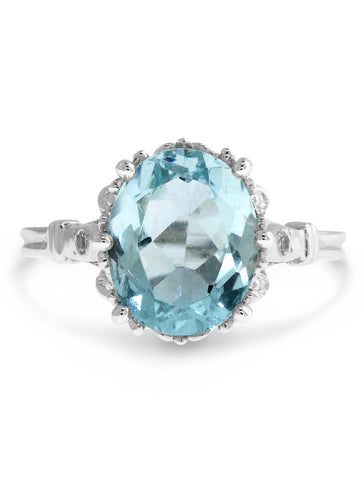 Aquamarine Handmade Engagement Ring - Dana Walden