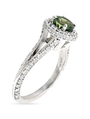 SPRING GREEN SAPPHIRE ENGAGEMENT RING (1.42ct)