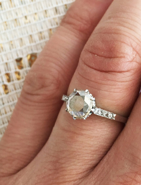 TEEGAN GREY DIAMOND RING