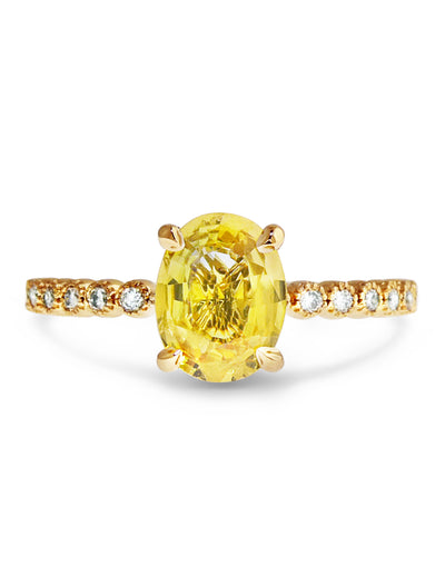 Thea 1.48ct Oval Yellow Sapphire <br/> Engagement Ring
