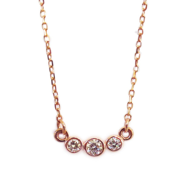 CLASSIC THREE-DIAMOND NECKLACE