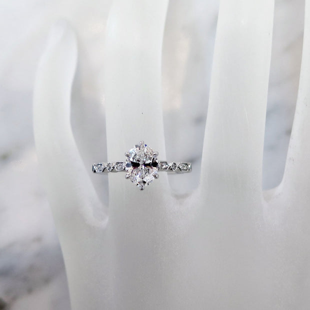 Tulia Oval Diamond Engagement Ring - On Hand- by Dana Walden Chin