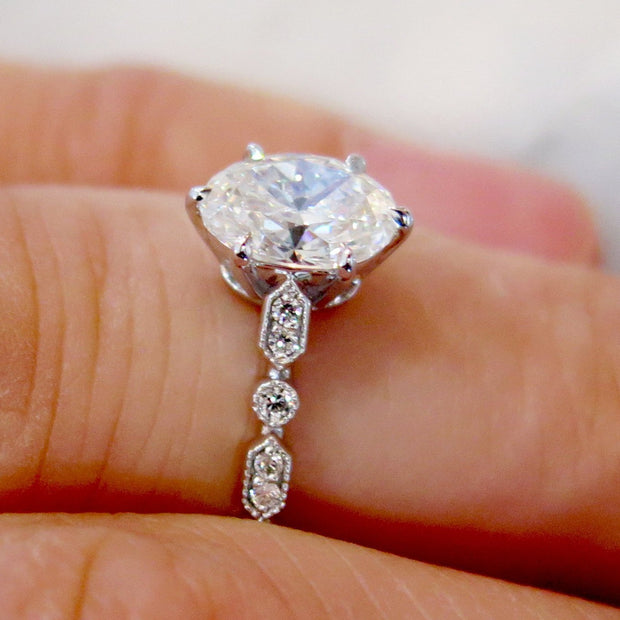 Tulia Oval Diamond Engagement Ring - Custom & Conflict-Free, NYC