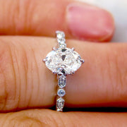Tulia Oval Diamond Engagement Ring - On Hand- Made in NYC