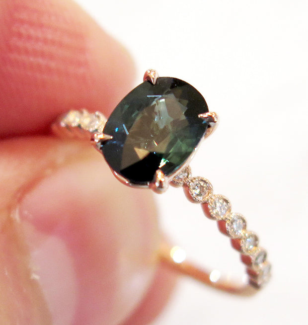 ANISA TEAL SAPPHIRE RING (1.50ct)
