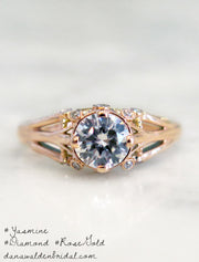 Rose Gold Engagement Ring - Vintage Inspired - Yasmine - 1 Carat Diamond - Dana Walden Bridal - NYC